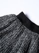 Black Ribbed Long Sleeve Crew Neck Plain Two Piece Sweater Dress