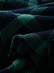 A-line Casual 3/4 Sleeve Checkered/Plaid V Neck Wrap Dress