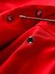 Red V Neck Elegant Solid A-line Coat