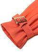Orange Cotton-blend Long Sleeve Buttoned Trench Coat with Belt