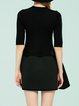Black Skater Half Sleeve Crew Neck Sweater Dress
