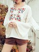 Boho Rayon Embroidered Long Sleeve Blouse