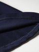 Navy Blue Buttoned A-line V Neck 3/4 Sleeve Midi Dress