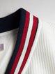 White A-line 3/4 Sleeve Zipper Polyester Mini Dress