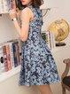 Gray Sleeveless Jacquard Girly Mini Dress