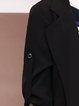 Black Pockets Lapel Half Sleeve Solid Elegant Blazer