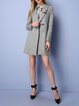 Buttoned Lapel Wool Blend Elegant H-line Coat