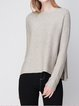 Asymmetric Cashmere Long Sleeve Crew Neck Sweater