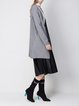 Gray Cashmere Solid Long Sleeve A-line Cardigan