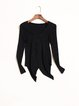 V Neck Elegant Asymmetric Solid Sweater