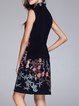 Vintage Floral EmbroideredSleeveless Midi Dress