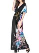 Half Sleeve Casual Printed A-line Maxi Dress