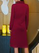 Vintage H-line Embroidered Wool Blend Sweater Dress