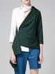 Asymmetric 3/4 Sleeve Color-block Statement Blazer