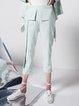 Pockets Elegant Plain Straight Leg Pants