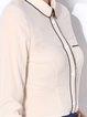 Apricot Pockets Shirt Collar Simple Blouse