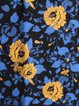 Blue Elegant Floral-print Scarf