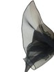 Black Elegant Organza Floral Scarf