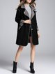Pockets Lapel Elegant Faux Fur And Shearling Coat