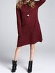 Buttoned Pockets Long Sleeve Sweater Dress