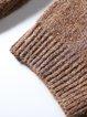 Pockets H-line Turtleneck Simple Solid Sweater Dress