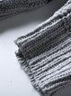 Gray Casual Knitted Turtleneck Sweater