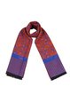 Purple Tribal Casual Viscose Scarf