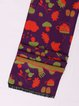 Purple Viscose Cute Printed Scarf