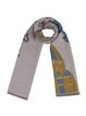 Gray Polyester Cute Printed Scarf