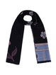 Black Cute Floral Printed Scarf