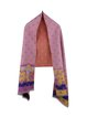 Pink Floral Color-block Casual Scarf