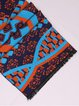Dark Blue Tribal Vintage Viscose Scarf