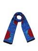 Blue Floral Viscose Tribal Vintage Scarf