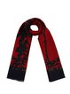 Black Graphic Printed Cute Scarf