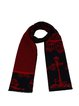 Red Vintage Polka Dots Graphic Scarf