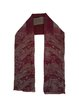 Burgundy Elegant Haze Pleated Scarf