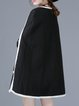 Black Binding A-line Sleeveless Poncho