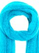 Blue Solid Casual Knitted Scarf
