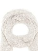 Beige Casual Solid Knitted Scarf