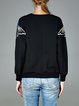 Animal Embroidered Crew Neck Long Sleeved Top