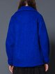Royal Blue Casual Animal Paneled Wool Blend Coat