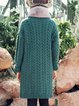 Turtleneck Solid Knitted Casual Long Sleeve Sweater Dress