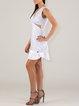 Sleeveless Flounce Cutout Sexy V Neck Mini Dress