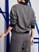 Gray Paneled Casual Woven Sweatshirt