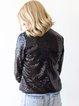 Black Sequins Sparkling 3/4 Sleeve Cropped Jacket