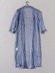 See-through Look 3/4 Sleeve Plain H-line Coat
