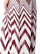 Geometric Halter Chiffon Sleeveless Midi Dress