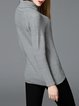 Knitted Turtleneck Long Sleeve H-line Solid Sweater