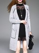 Knitted H-line Pockets Long Sleeve Casual Cardigan