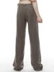 Wool Blend Solid Casual Pockets Wide Leg Pants